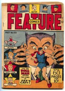 Feature Comics #110 1947- DOLL MAN v Fat Catt VG
