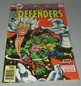 Defenders #38 FN/VF 1976 Marvel Comic Book Dr. Strange Incredible Hulk Nebulon