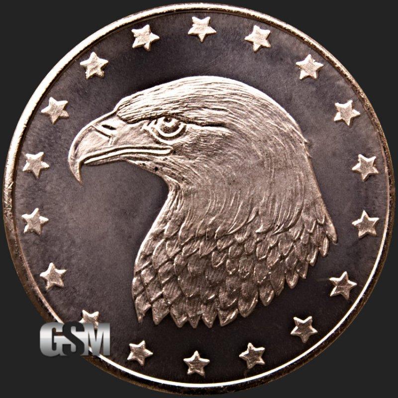 Copper bullion one ounce coins