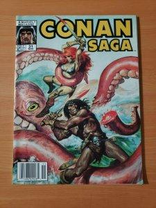 Conan Saga #31 ~ NEAR MINT NM ~ 1989 Marvel Comics