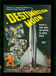 DESTINATION MOON COMIC-1950-GEORGE PAL FAWCETT MOVIE COMICS- FN/VF
