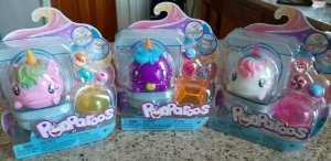 Authentic POOPAROOS UNICORN Purple, White & Pink TOILET PET Lot Toy Blind Bag