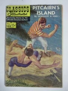 CLASSIC ILLUSTRATED #109 (FR) PITCAIRN'S ISLAND (1ST Edition, HRO=110) Jul 1953