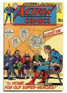 ACTION COMICS #386 1970 DC SUPERMAN LEGION SUPER-HEROES --VG