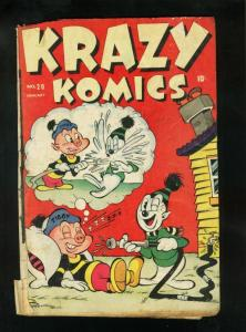KRAZY KOMICS #20 1946-TIMELY COMICS-STAN LEE-ZIGGY PIG-KRAZY KROW-fair FR