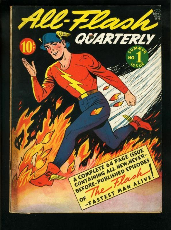 ALL-FLASH QUARTERLY #1 1941-DC COMICS-EE HIBBARD PHOTO FN