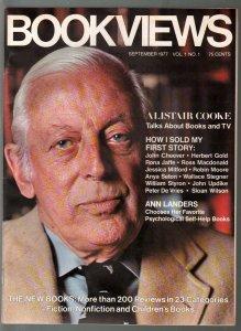 Bookviews #1 9/1977-1st issue-Alistair Cooke-Ann Landers-NM
