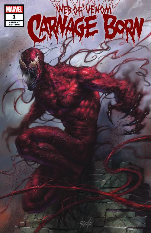 WEB OF VENOM CARNAGE BORN #1 SCORPION COMICS PARRILLO VARIANT COVER