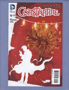 Constantine #15 VF Front/Back Cover Scans DC New 52 2014