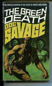 DOC SAVAGE-THE GREEN DEATH-#65-ROBESON-VG/FN-JAMES BAMA COVER-1ST EDITION VG/FN