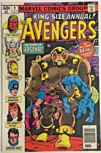 AVENGERS ANNUAL#9 VF 1979 MARVEL BRONZE AGE COMICS