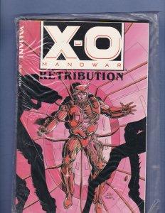 X-O Manowar Retribution Graphic Novel Sealed In Bag with Database #1 Valiant