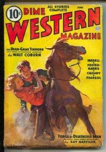 Dime Western-11/1936 Popular-Walt Coburn &others pulp fiction-Walter Baumhofe...