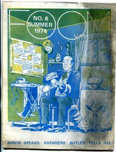 FOOM fanzine #6 1974- Jarvis Speaks- Avengers Butler marvel comics