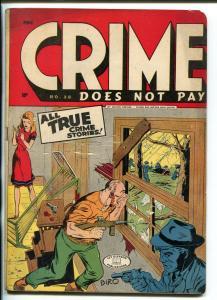CRIME DOES NOT PAY #38 1953-VIOLENT-GUN MOLL-CHARLES BIRO-BOB WOOD-BRIEFER-vg-