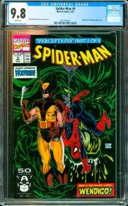 Spider-Man #9 CGC Graded 9.8 Wolverine & Wendigo appearance.