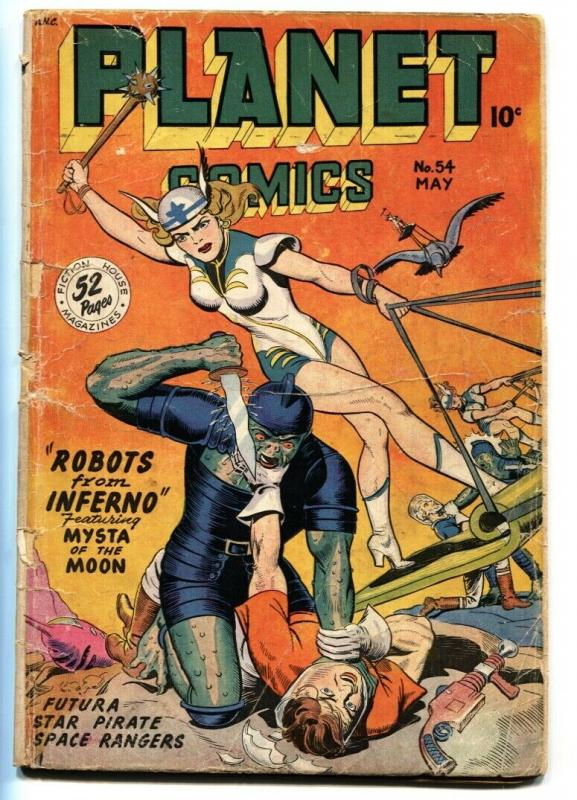 Planet #54 comic book 1948-Fiction House-Good Girl Sci-fi Art-Futura origin