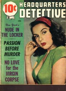 Headquarters Detective Magazine April 1951- Virgin Corpse