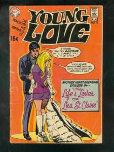 YOUNG LOVE #75 1969-DC ROMANCE G
