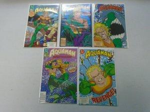 Aquaman run #1-5 8.5 VF+ (1991 2nd Series)