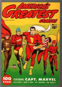 America's Greatest Comics  #1 1941-Flashback-reprints original Golden Age comic-