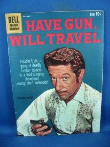HAVE GUN WILL TRAVEL 6 F VF RICHARD BOONE PALADIN DELL1960 PHOTO COVER