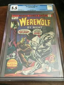 WEREWOLF BY NIGHT #32 - CGC 5.5 FN- 1ST APP MOON KNIGHT-BRONZE AGE BLUE CHIP KEY