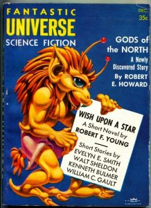 FANTASTIC UNIVERSE SCIENCE FICTION-Dec 1956-Pulp-ROBERT E HOWARD-HANNES BOK cove