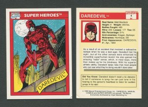 1990 Marvel Comics Card  #4  (Daredevil)  NM