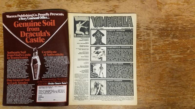 Vampirella # 89 Warren Magazine December 1972 Horror Supernatural BW1