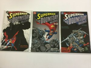 Superman The Doomsday Wars set #1-3 8.0 VF 91998)
