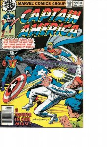 Captain America #229 NEWSSTAND EDITION signed x2 Don Perlin & Bob McLeod VF+