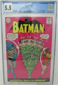 Batman # 171 ~ 1965 DC ~ CGC 5.5 FN- ~ 1st Silver Age Riddler