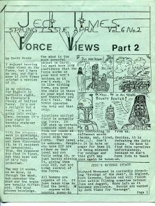 Jedi Times Vol. 6 #2  4/1982-rare Star Wars Fanzine-newsletter format-VG
