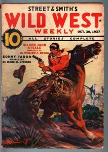 WILD WEST WEEKLY-10/30/1937-PULP-SONNY TABOR-SILVER JACK STEELE FN