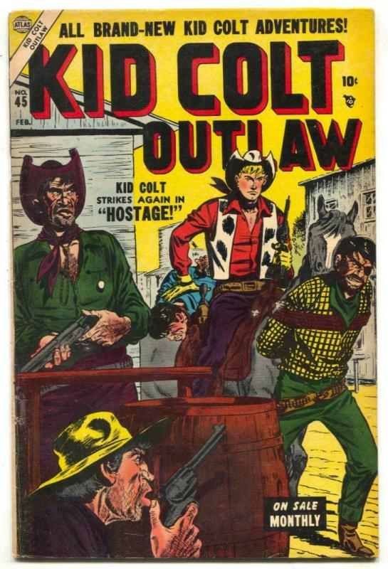 Kid Colt Outlaw #45 1955- Black Rider- Final pre-code issue FN