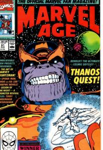 MARVEL AGE #91 THANOS QUEST $12.50