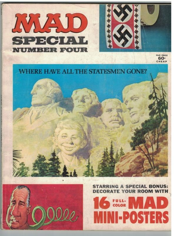 MAD SPECIAL (1971) 4 G+ with MINI POSTERS
