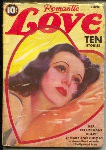 Romantic Love Stories 6/1939-Romance racket-spicy romance pulp-Bogus Bride-VG-