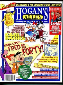 Hogan's Alley #9 2001-Carl Barks-Jim Meddick-Flinstones 4oth Anniversary-VF