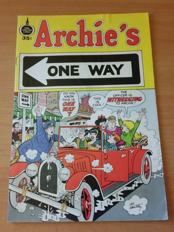 Archie's One Way #1 ~ VERY GOOD - FINE FN ~ 1973 Spire Christian Comics