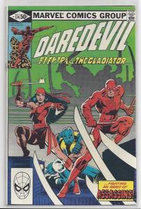 Daredevil #174 Early Elektra Issue with Old School Frank Miller Autograph