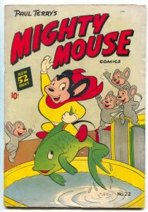Mighty Mouse #22 1951- St John Golden Age Funny Animals G