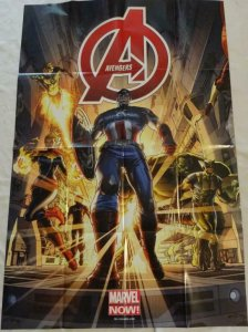 AVENGERS Promo Poster, 24 x 36, 2012, MARVEL, CAPTAIN AMERICA, HULK Unused 141