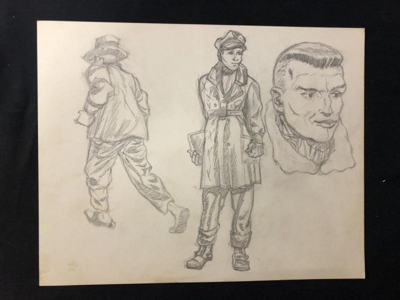Steve Canyon Unpublished Comic Sketch Art