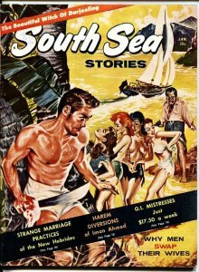 South Sea Stories 1/1961-Captive women on cover-Cheesecake