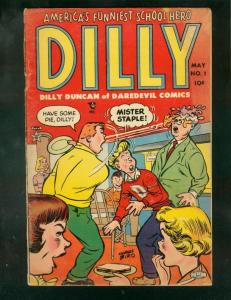 DILLY #1 1953-CHARLES BIRO-FOOD FIGHT COVER-LEV GLEASON VG
