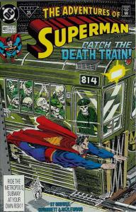 Adventures of Superman #481 VF; DC | save on shipping - details inside