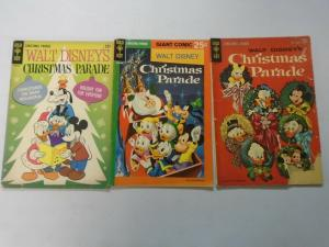 Disney Christmas Parade comic lot 3 different issues 4.0 VG