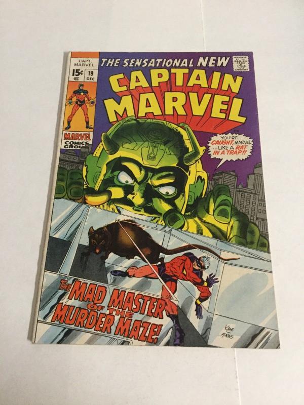 Captain Marvel 19 Fn Fine 6.0 Marvel Comics Silver Age